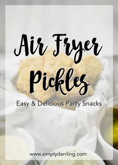 Looking for a delicious appetizer to make in your air fryer? Love fried pickles at your favorite restaurant chain? You NEED to try these Air Fryer Fried Pickles! They are perfect as a party snack or enjoy them with your family. Entree Recipes, Easy Dinner Recipes, Easy Recipes, Diet Recipes, Cooking Recipes, Party Snacks, Appetizers For Party, Pinterest Recipes, Pinterest Food
