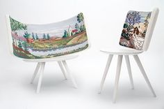Illustrated chairs