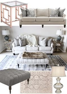 While we love the serenity of wintry whites, what we're really looking forward to the most is how this enchanting and relaxing color palette transitions through any season! Complement larger upholstered pieces with touches of golds, silvers, dark woods and faux fur.  Photo: stylecusp.com