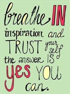 Breathe in...