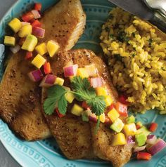 It's all about timing with Salsa-Topped Tilapia with Cilantro Rice. Start the rice, make the salsa, then cook the tilapia. Bam! Dinner is ready in about 30 minutes!
