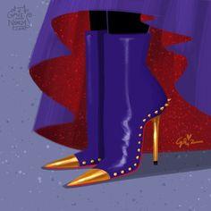 The Evil Queen designer shoes