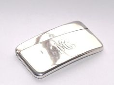SUPERB ANTIQUE  EDWARDIAN SOLID SILVER STERLING CARD CASE BIRMINGHAM 1906 #WilliamMHayes