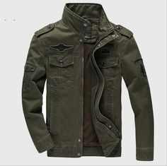 Men's Military Army Outerwear Embroidery Aeronautica Militare Jacket