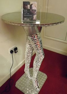 MOSAIC MIRRORED MANNEQUIN BAR LEGS TABLE HAND MADE ART by Jamie Williams
