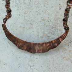 fold formed copper necklace by SeeTheBeeStudio on Etsy, $65.00