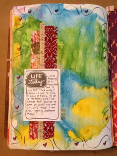 I don't use a lot of Washi Tape in my journals but I like how it was used as a background for the journal card. I also like the addition of the journal card rather than writing all over the page.