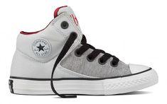 d5b1d1aecced Converse Chuck Taylor All Star High Street Kids Hi Top Pure Platinum