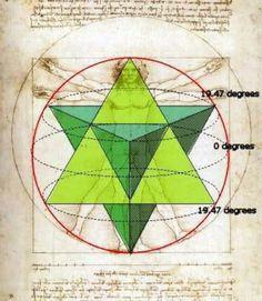 Sacred geometric pattern Merkerba aka hologram of love