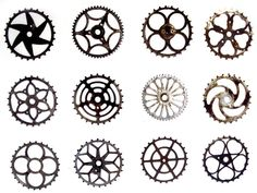 vintage bicycle sprockets from madame hervé