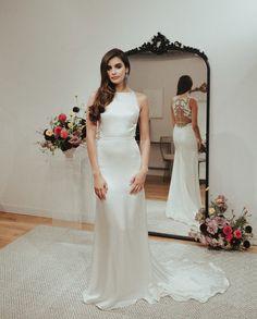 silk satin wedding dress by sarah seven