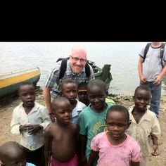 Kids on an island on Lake Victoria, Uganda