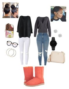 """""""Untitled #245"""" by angeliqueamor on Polyvore featuring UGG, Kate Spade, Vince, River Island, CLUSE and Betsey Johnson"""