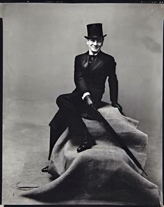 Sir Arthur John Gielgud, OM, CH was an actor and theatre director, by Irving Penn in 1947.