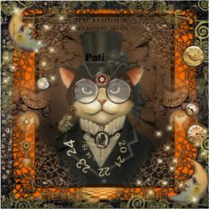"""""""Steampunk Kitty"""" by pati777 on Polyvore"""