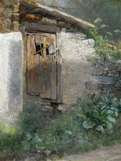 School Study of a Stable Door WILHELM LEIBL