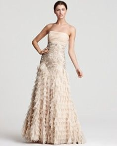 Sue Wong Strapless Gown - Ruffle