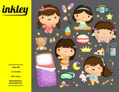 Ready to use sleepover illustration and clipart for personal and commercial use.