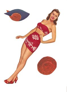 ESTHER WILLIAMS  Esther Jane Williams (August 8, 1921 – June 6, 2013) was an American competitive swimmer and actress. Date: 1950 Publisher: Whitman Artist: Victor Kallin  1 of 13