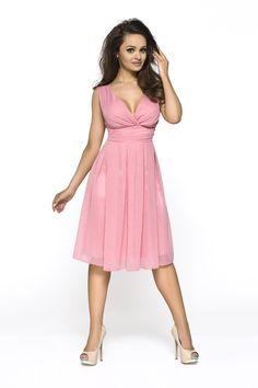 KARTES MODA šaty dámské KM117 šifon obálkový výstřih 80b52c95c4