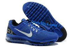 Hyper Blue Black White Nike Air Max 2013 Men's Running Shoes    #Blue #Womens #Sneakers