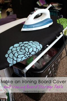 How To Stencil Fabric And Ironing Board Cover Tutorial