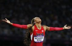 There was no settling for the bronze this time for Sanya Richards-Ross.