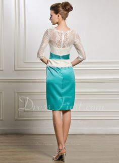 Knee-Length Mother of the Bride Dress With Beading (008056887)