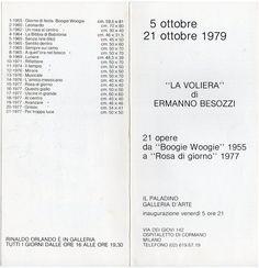 1979 Personale Galleria Il Paladino,La Voliera, Ospitaletto di Cormano