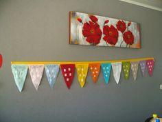 Verjaardagsvlagjes met foto of symbool