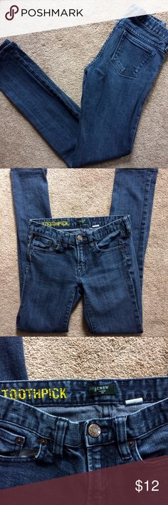 J.Crew Toothpick Skinny Jeans J.Crew Toothpick skinny jeans size 26. In great preowned condition. 98% cotton, 2% spandex J. Crew Jeans