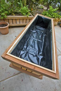 """2 x 6 x 32"""" high rolling planter box on wheels (raised bed planter). Great for those who don't like bending down or have back problems. Box rolls easily with industrial grade casters. Box is made for commercial use, though designed attractive for home use. Very deep box permits deep rooting plants. Other sizes offered: 2x4' and 2x8'. Can be shipped nationally from Ventura, California. Call 805-643-5902 or see website: http://www.preissler.net/sanctu"""