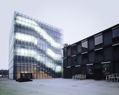 KUB Bregenz by Oliver Fiegel, via Behance  The frosted exterior with that ephemeral glow from within.