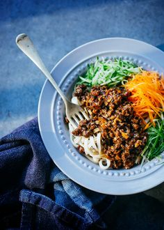 Spicy beef mince sauce noodle (Beijing Zha Jiang Main)   A Table For Two