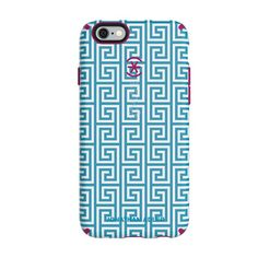 Speck iPhone 6/6s Plus CandyShell Inked Johnathan Adler Case - Aqua Greek Key