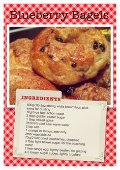 Blueberry Bagels Recipe!  Come to Bagels and Bites Cafe in Brighton, MI for all of your bagel and coffee needs!  Feel free to call (810) 220-2333 or visit our website www.bagelsandbites.com for more information!