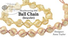"This video tutorial from The Potomac Bead Company teaches you how to make Anna Taylor's ""Ball Chain"" bracelet design. Find a list of materials in the descrip..."