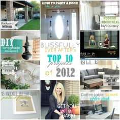 Blissfully Ever After's Top 10 Projects in 2012! Come See!