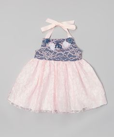 Look what I found on #zulily! Pink Western Lace Twirl Dress - Infant, Toddler & Girls by Heavenly Things for Angels on Earth #zulilyfinds