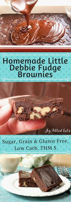My Homemade Little D My Homemade Little Debbie Fudge Brownies are a better than copycat version of those favorite lunch box treats. Low Carb, Grain Gluten Sugar Free, THM S.