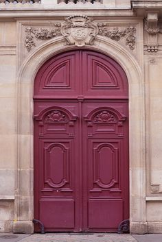 Paris Door Photograph – Maroon Door, Parisian Architecture Fine Art Photo, Home Decor, French Wall Art - Decoration For Home Architecture Parisienne, Parisian Architecture, Marsala, Pantone 2015, Pantone Color, Cool Doors, Unique Doors, Fine Art Photo, Photo Art