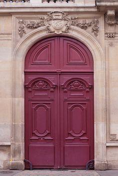 Paris Fine Art photographie    « La porte marronne »    Portes de tirage photographique le magnifiquement détaillés de beaux-arts de Paris sont