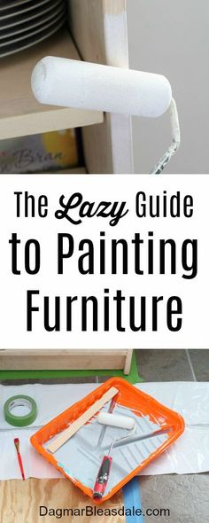 I wanted to paint the big bookcase, but I didn't want it to take a lot of time. This is what I came up with: The Lazy Guide to Painting Furniture. #DIY #painting #furniture #homedecor #bookcase #shelves