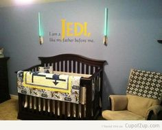 How Cute Is This Star Wars Baby Jedi Nursery I Am A Like My Father Before Me