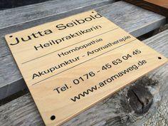 Heilpraktiker #Firmenholzschild gelasert