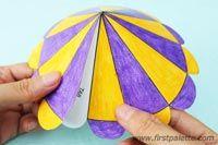 Step 4b Paper Circus Tent craft