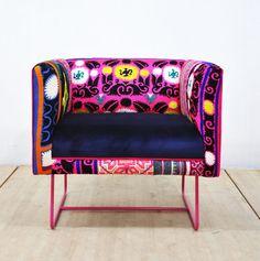 Rosa de sillón rosa caja suzani por namedesignstudio en Etsy