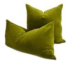 Green Velvet Pillow, Green Throw Pillows, Throw Pillow Cases, Green Pillow Cases, Lumbar Pillow, Funky Cushions, Velvet Cushions, Cushions On Sofa, Sofa Cushion Covers