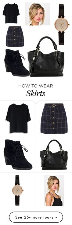 """""""Tartan skirt"""" by lulu654 on Polyvore featuring Chicwish, Clarks and Barbour"""