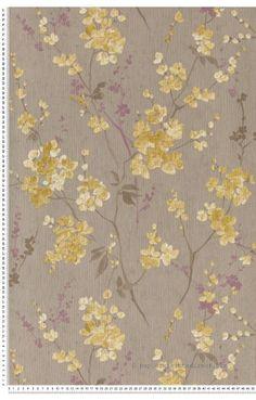 Papier Peint Papier peint dorés Fleurs : papier peint direct, vente decoration murale et tapisserie murale de maison